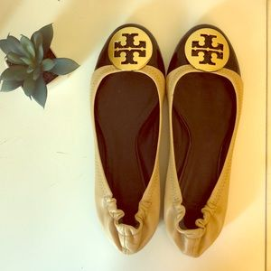 ❤️TORY BURCH Reva Ballet Flats Cap Toe 8M